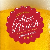 Alex Brush Beer-Type Logo Design