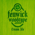 Fenwick Woodtype Beer-Type Logo Design